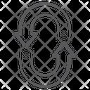 Restore Arrows Refresh Syncing Arrows Icon