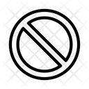 Restricted Ban Block Icon