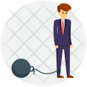 Restricted Businessman Icon