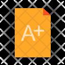 Result Grade Paper Icon