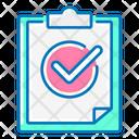 Result Clipboard Check Mark Icon