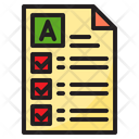 Result Mark Report Test Paper Icon