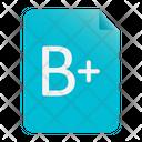 Result B Plus Grade Examination Icon