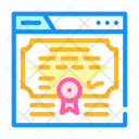 Electronic Diploma Color Icon