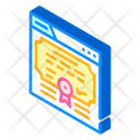 Electronic Diploma Isometric Icon