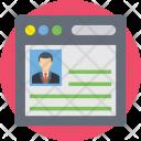 Cv Resume Portfolio Icon