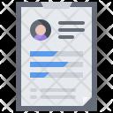 Resume Presentation Tablet Icon