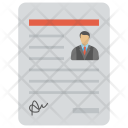 Profile Resume Cv Icon