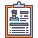 Resume Cv Employee Icon