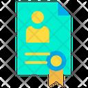 Cv Resume Profile Biodata Icon