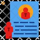 Resume Vitae Profile Icon