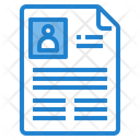 Resume Portfolio Profile Resume Icon