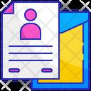 Resume Job Cv Icon