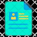 Cv Job Profile Icon