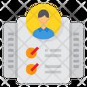 Human Resource List Resume Icon