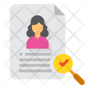 Human Resource Search Paper Icon