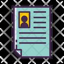 Iresume Resume Cv Icon