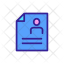 Document Linear Contour Icon