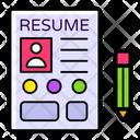Profile Cv Resume Icon