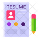 Profile Cv Resume Icon