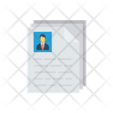 Resume Cv Hiring Icon
