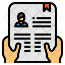 Curriculum Application Resume Icon