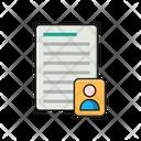 Resume Document User Icon