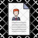 Resume Cv File Icon