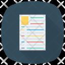 Resume Profile Document Icon