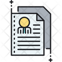 Resume Biography Cover Letter Icon