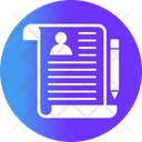 Resume Cv Writing Icon