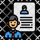 Resume Application Portfolio Icon