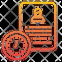 Document Time Portfolio Icon