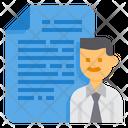 Resume Profile Man Icon