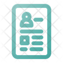 Resume Cv Bio Data Icon