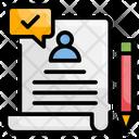 Resume Interview Document Icon
