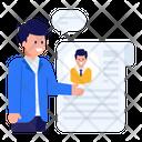 Cv Resume Profile Icon