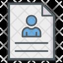 Resume Cv Portfolio Icon