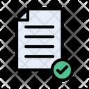 Check File Approve File Resume Icon