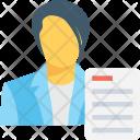 Resume Person Article Icon
