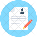 Resume Writing Editing Icon