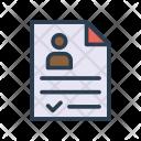 Resume Cv Docment Icon