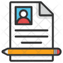 Cv Resume Writing Icon