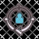 Retargeting Target Circular Arrow Icon
