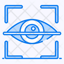 Retina Scanner Iris Recognition Eye Recognition Icon