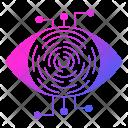 Retina Scanner Cyber Icon