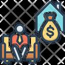 Retire Armchair Deposit Icon