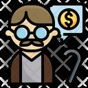 Elderly Oldman Pension Icon