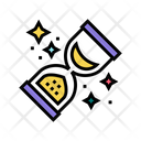 Retro Sandglass Color Icon