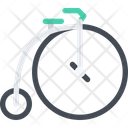 Retro Bike Penny Farthing Ancient Cycle Icon